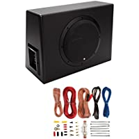 Rockford Fosgate P300-10 10 300W Sealed Powered Subwoofer/Sub Enclosure+Amp Kit
