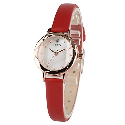 onvex Hexagon Cutting Glass, Minimalist OL Wristwatch, Waterproof Leatherette Strap ()