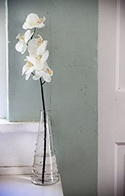 1 X Gorgeous White Orchid and Vase Combination By Ikea