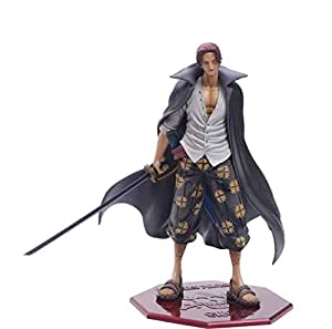 One piece red hair  new world POP four emperor hand box office furnishing articles 26 cm doll model