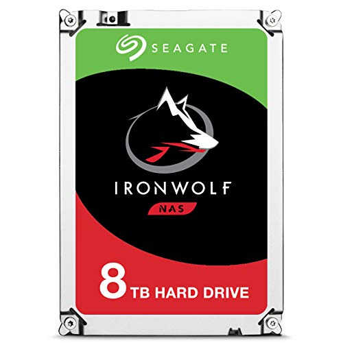 Seagate IronWolf 8TB NAS Internal Hard Drive HDD - 3.5 Inch SATA 6Gb/s 7200 RPM 256MB Cache for RAID Network Attached Storage (ST8000VN0022) Black Internal Hard Disk Drive