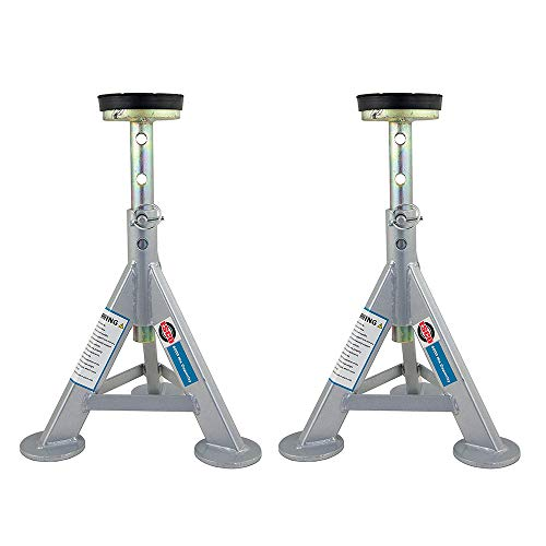 Esco 10499 3 Ton Adjustable Shorty Style Low Profile Car Jack Stand (2 Pack)