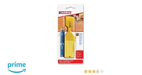 Edding 4-8903-1-4 - Utensilio para derretir cera restauradora para tablas de madera (funciona a pilas): Amazon.es: Oficina y papelería
