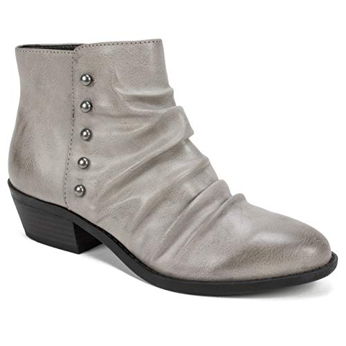 Boot Womens Ankle Mountain - WHITE MOUNTAIN Shoes Declan Boot, Charcoal/BURNISHSMOOTH, 6 M