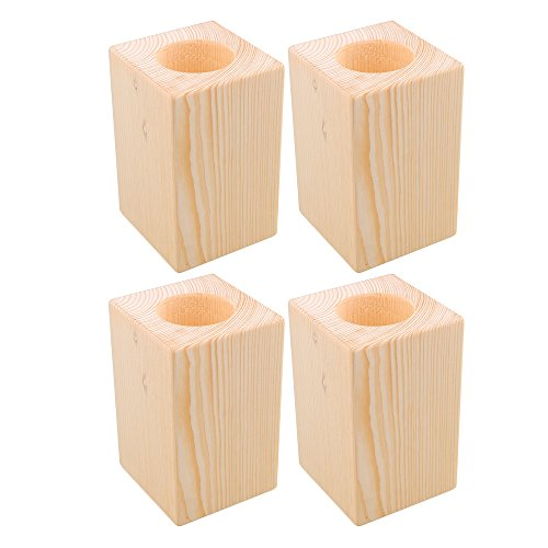 Mxfans 4X Wood Furniture Storage Riser Bed Lifter 5cm Round Hole 4'' Lift Height by Mxfans (Image #5)
