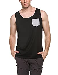 COOFANDY Men's Jersey Tank Top Casual Sleeveless Shirt with Pocket