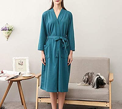 Men Woman Bathrobe Dressing Plus Size XXXL Lovers Summer Nightgowns Couple Autumn Waffle