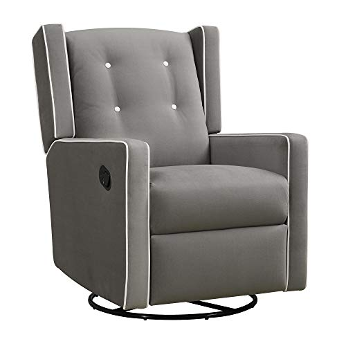 Used, Baby Relax Mikayla Swivel Gliding Recliner, Gray Microfiber for sale  Delivered anywhere in USA