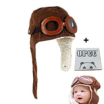 OPCC Super Cool Baby Infant Kid Soft Warmer Winter Hat/ Pilot Aviator Cap/Fleece  sc 1 st  Amazon.com : aviator halloween costume  - Germanpascual.Com