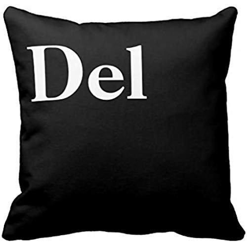 GETTOGET Control Alt Delete Ctrl Alt Del Pillow Case Cotton Polyester with Hidden Zipper Decorative Home Decor Square Indoor/Outdoor 16x16 in