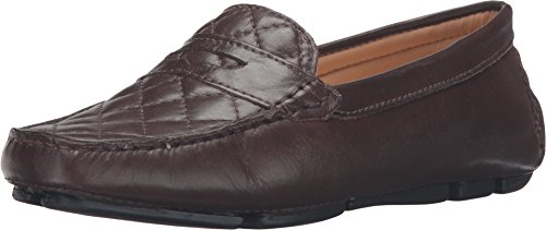 Massimo Matteo Women's Nappa Penny Driver Brown Loafer