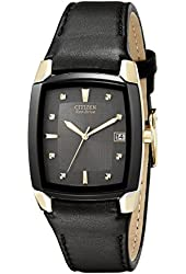 Citizen Men's BM6574-09E Eco-Drive Leather Watch