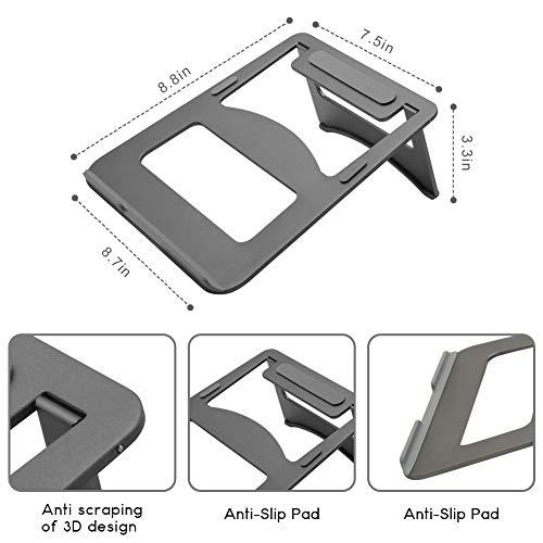 Efanr Aluminum Laptop Stand, Ergonomic Cooling Notebook Stand Desk Dock Holder Bracket Fits Up to 17 inch Laptops & Tablets by Efanr (Image #1)