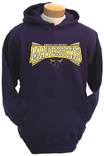 NCAA Minnesota State Mankato Mavericks Men's Condor Hooded Sweatshirt (Purple, Medium)