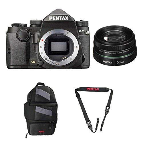 دوربین Pentax KP DSLR (KP سیاه ، w / Pentax 50mm Len ...