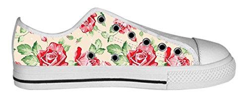 Womens Canvas Låga Kängor Vackert Mönster Designmönster Shoes20