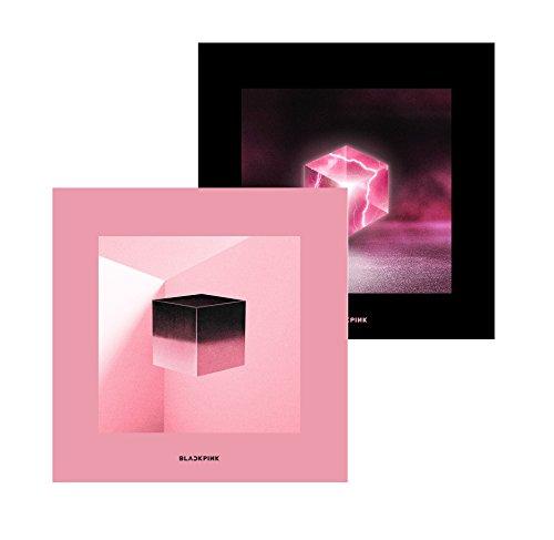 Genie Music Blackpink   Square Up  Pink Black Ver  Set   1St Mini Album  2Cd Photobook Renticular Lyrics Postcard Photocards 1Double Side Folded Poster Free Gift