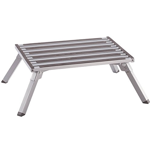 Wide Folding Step Stool, EasyComforts, Silver