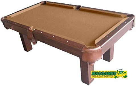 Mesa de billar americano Masgames Elegant Brown (7 pies): Amazon ...