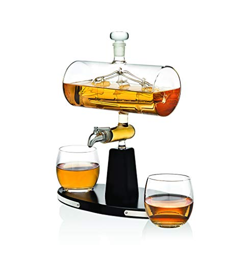 Godinger Whiskey Decanter Dispenser with 2 Whisky Tumbler Glasses - for Liquor, Scotch, Bourbon, Vodka by Godinger (Image #5)