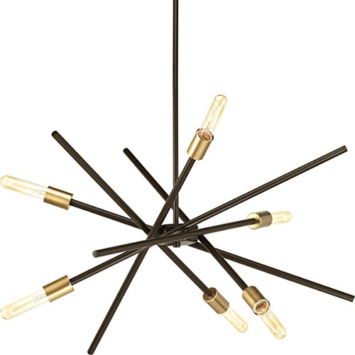 Progress Lighting P400108-020 Astra Six-Light Chandelier, Antique Bronze