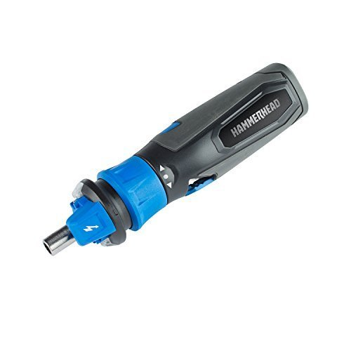 Picture of HAMMERHEAD 4V Lithium Rechargeable Screwdriver with Patented Circuit Sensor Technology and 9-Piece Bit Kit by HAMMERHEAD