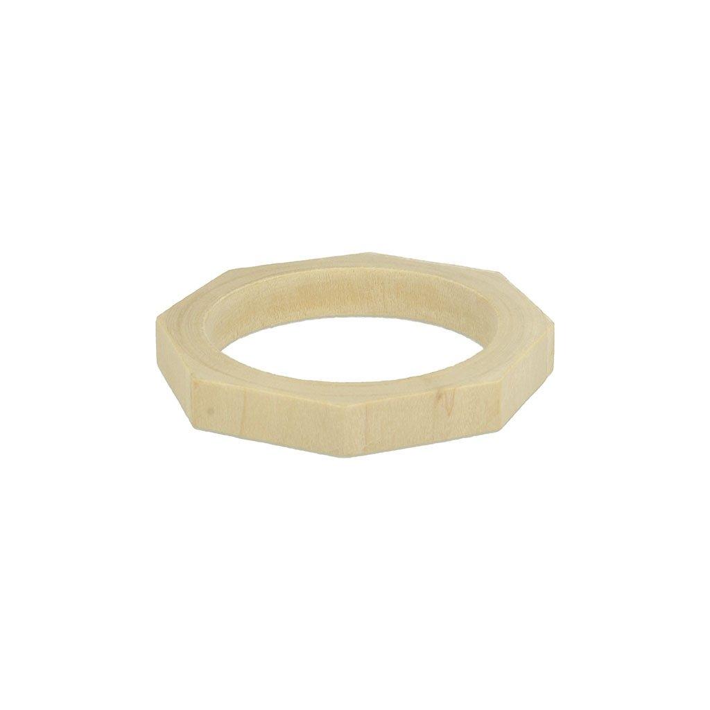 Bracelet faces en bois brut Medium à personnaliser et décorer x1