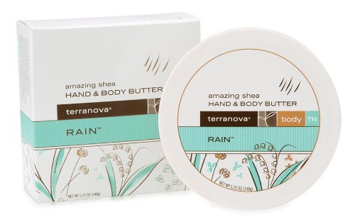 - Terranova Amazing Shea Hand and Body Butter, Rain, 4 Ounce
