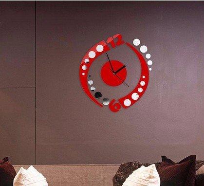JY$ZB Reloj de pared adhesivos acrílico reloj hechizo pegatinas ...