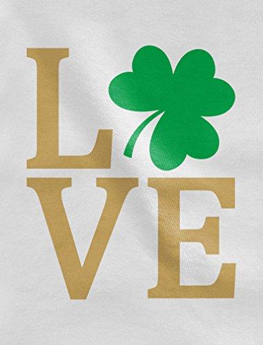 Tstars Irish Clover Love St Patrick's Day Cute Irish Baby Long Sleeve Bodysuit 12M (6-12M) Black by Tstars (Image #2)'