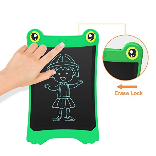 NEWYES 8.5 Inch LCD Writing Tablet Updated Frog Pad Children Electronic Doodle Board Jot Digital E-Writer Kids Scribble Toy with Lock Function Green by NEWYES (Image #4)