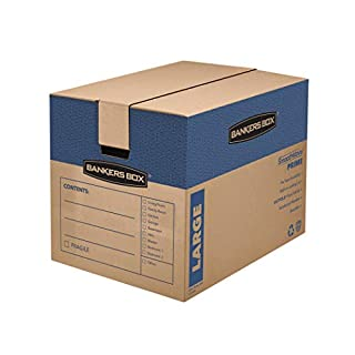 Bankers Box SmoothMove Prime Moving Boxes, Large 6 pack (0062904)