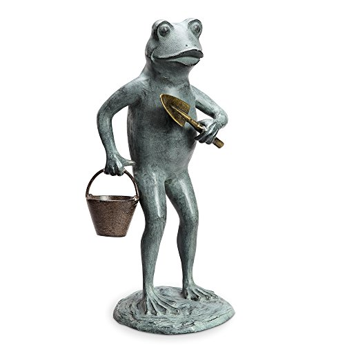 Green Thumb Frog Garden Sculpture