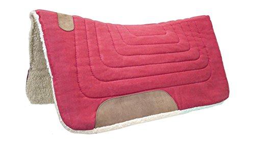 Tahoe Tack Western Canvas Contoured Wool Felt Extra Comfort Saddle Pad