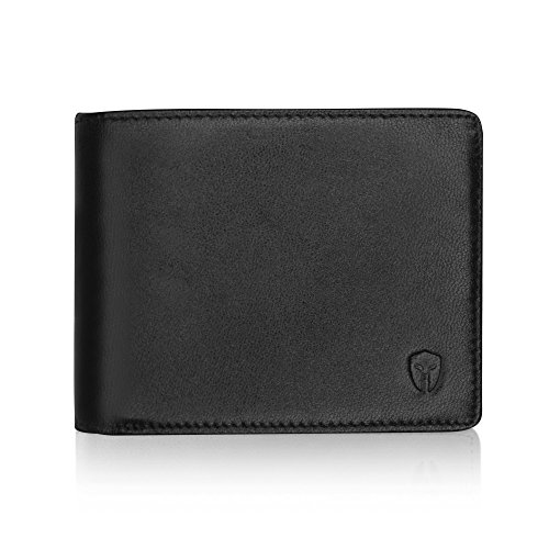 - 2 ID Window RFID Wallet for Men, Bifold Side Flip, Extra Capacity Travel Wallet