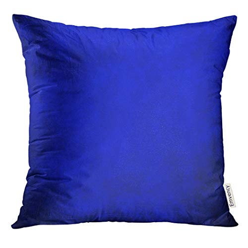 (UPOOS Throw Pillow Cover Purple Vibrant Royal Blue Black Border Cool Color Vintage Grunge Abstract Gradient Luxury Wall Paint Deep Decorative Pillow Case Home Decor Square 20x20 Inches)