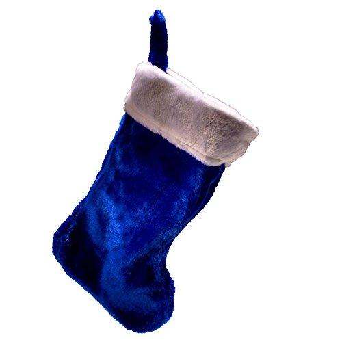 Blue Plush Christmas Stocking