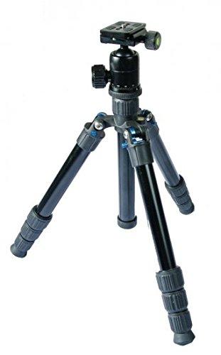 TERRA FIRMA TRIPODS T-AL400-BH300 Aluminum 4 Section Leg Set with Ball Head BH300, Tripod, Black