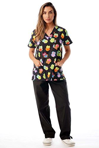 Just Love Nursing Scrubs Set for Women Print Scrubs 1311V-10292-L ()