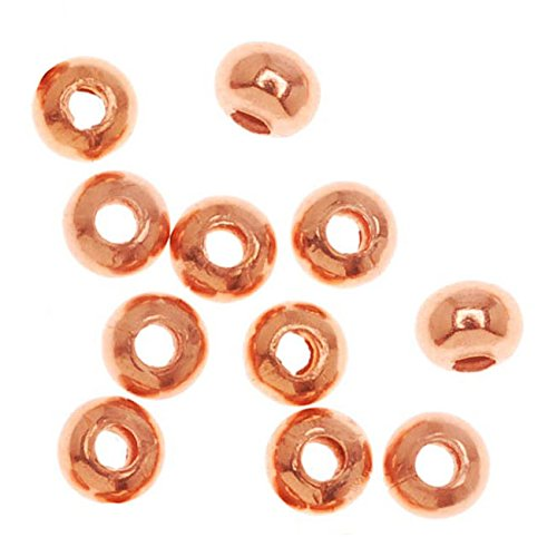- Bright Genuine Copper Rondelle Beads 3.2mm x 2.5mm (100)