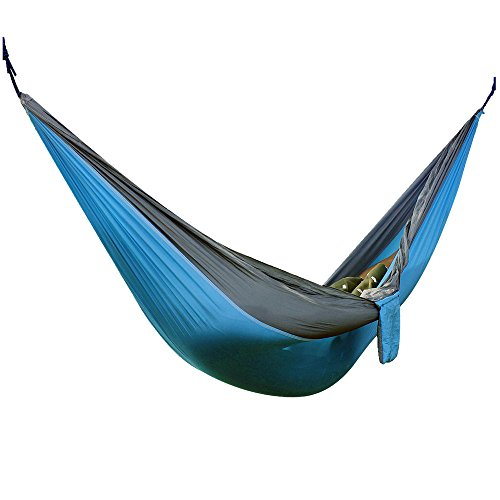 Hammock, Parachute Nylon Fabric Portable Camping Hammocks for Traveling, Hiking, Boating, Sleeping, Backpacking, Climbing, (Sky Blue/Grey, 320cm × (Dress Sales Australia)