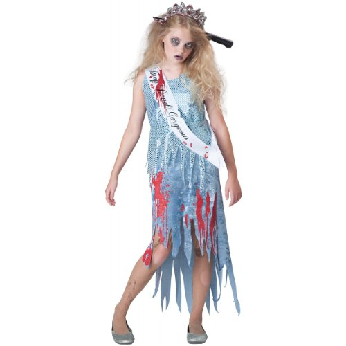 InCharacter Costumes Junior's Homecoming Horror Queen Costume, Blue, Large(12-14) ()