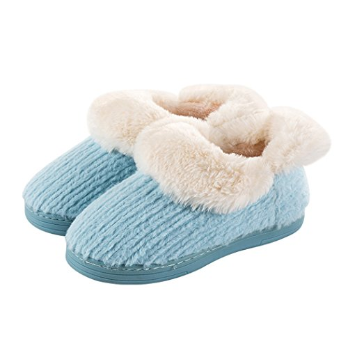 MiYang Vintage Arctic Solid Indoor Boot Slippers A-blue F5EHwB6bZd
