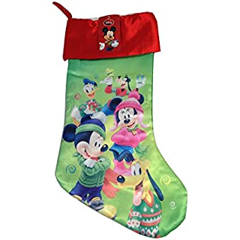 disney mickey mouse big face 18 velour christmas stocking with soft cuff by disney - Mickey Mouse Christmas Stocking