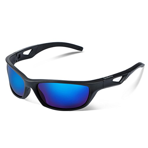 Duduma Polarized Sport Mens Sunglasses for Baseball Fishing Golf Running Cycling with Fashion Women Sunglasses and Men Sunglasses Tr80821 Flexible Superlight Frame (Black matte frame, Blue - Online Men Sunglasses