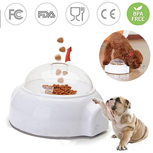 Automatic Cat Feeder Reviews - Adusa Pet Launcher Toy, Fun Interactive Treat Food Dispenser Thrower Toy,Dog Cat Slow Feeder Toy