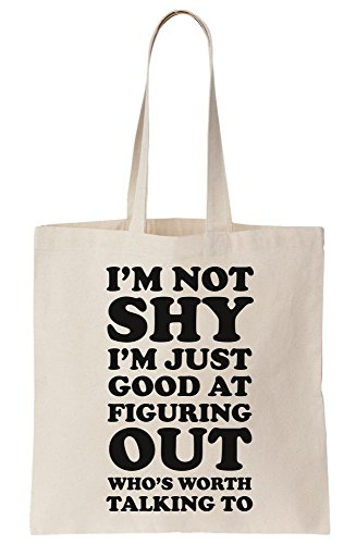 Worth Sad am Who's Not Figuring I Out Just Am I Talking Tote Good Canvas Of To Bag EwARqPxH
