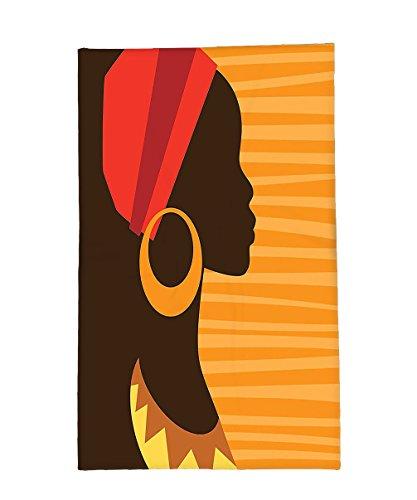 Profile Silhouette - Interestlee Fleece Throw Blanket Afro Decor Girl Profile Silhouette with Earrings Grace and Elegance Icon Image Dark Brown Merigold