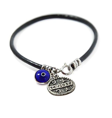 Health Solomon Seal & Blue Evil Eye Charm Bracelet for Women 7