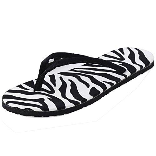 Minetom Damen Sommer Urlaub Schuhe Strand Flip-Flops Sandalen Dusch & Badeschuhe Weiß